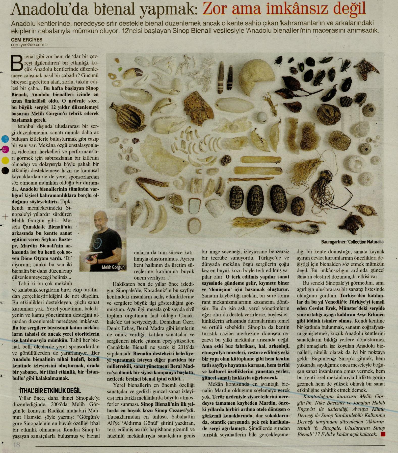 Sinopale, Hürriyet Kitap Sanat
