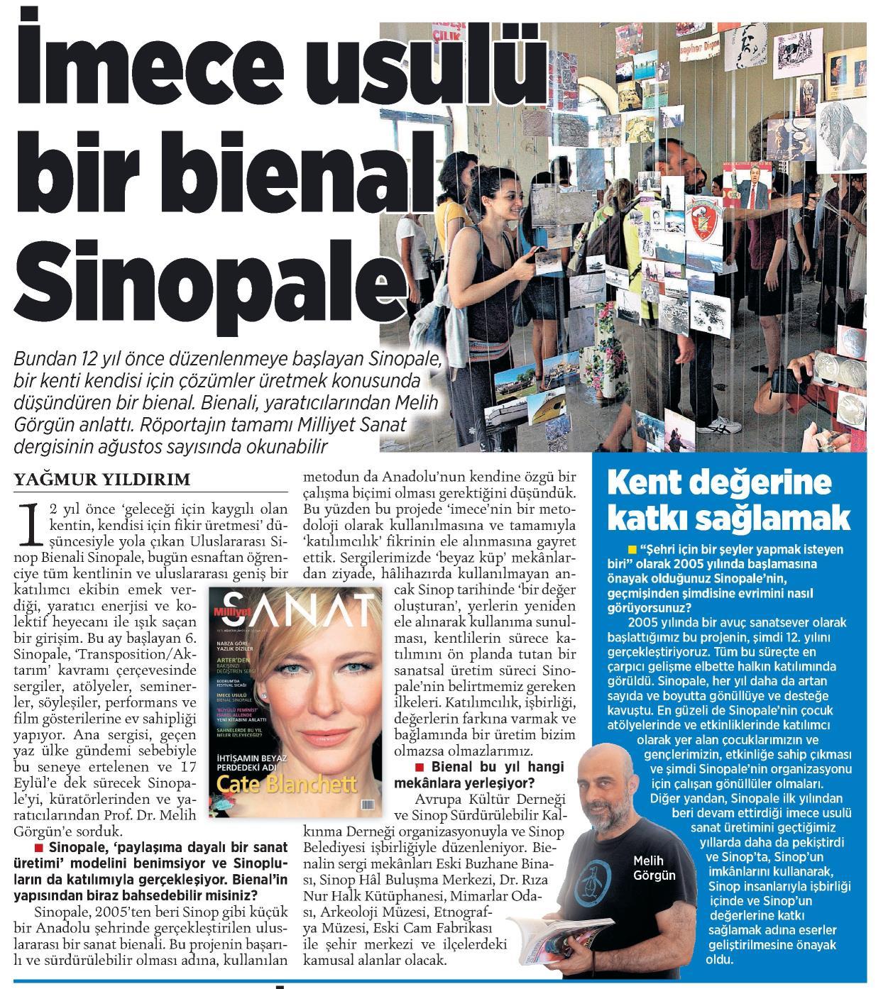 Sinopale, Milliyet 2